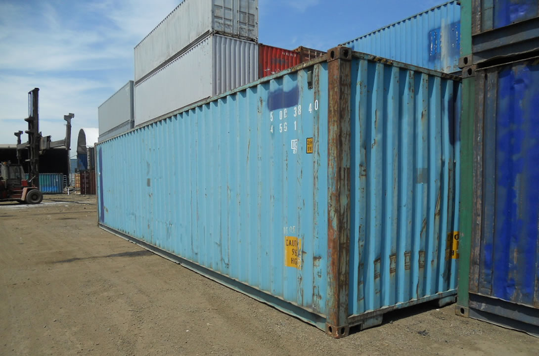 Blue 40ft Shipping Container