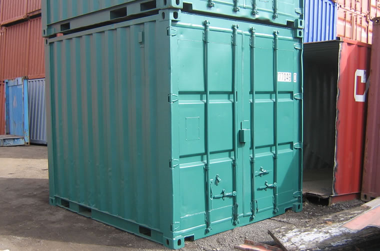 Green 10ft Shipping Container Hire