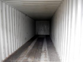 inside 40ft shipping container
