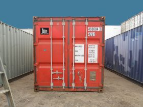 Red 40ft Shipping Container