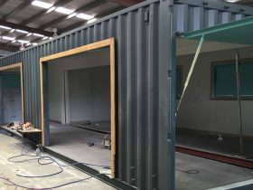 Shipping Container Shop Modification