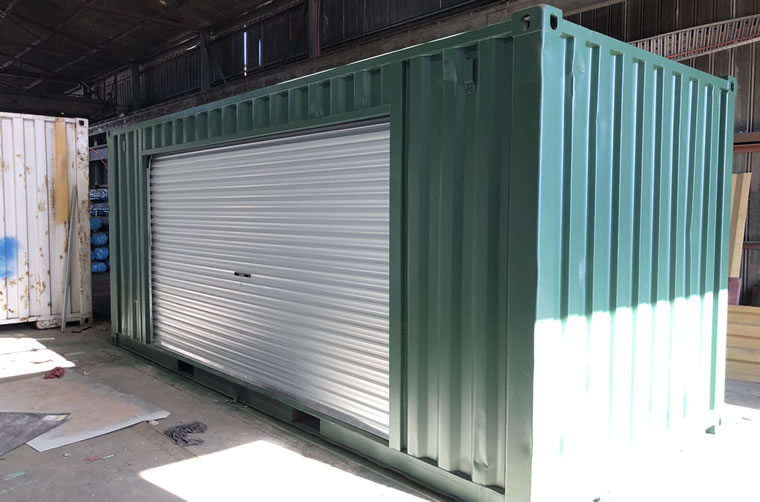 Side Roller Door Container Modification