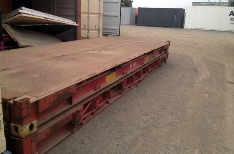 Used 20ft Flat Rack Container