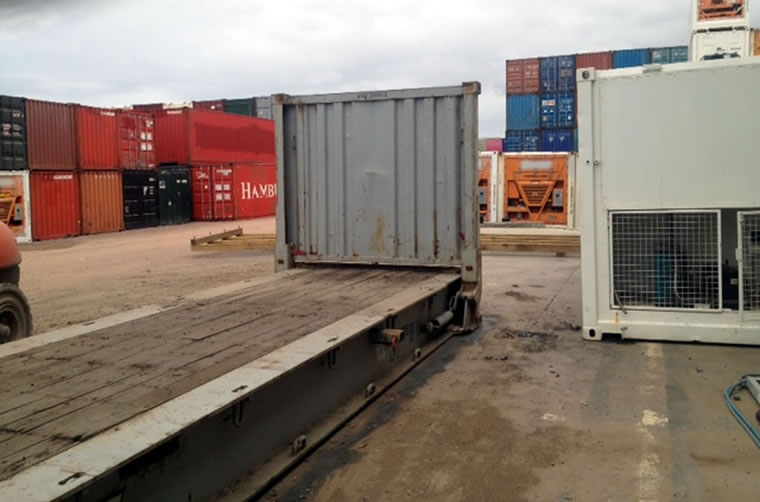 Used 40ft Flat Rack Container