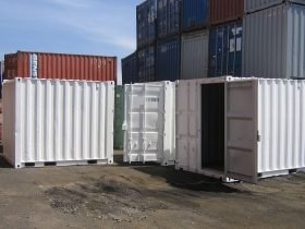 White 10ft Shipping Container
