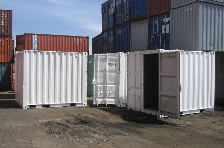 White 10ft Shipping Container Hire