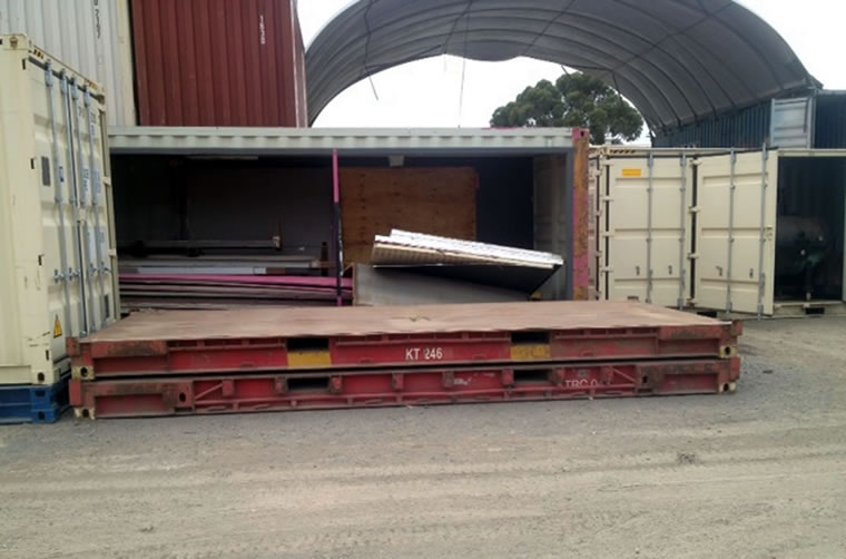 Used 20ft Flat Racks Container Hire