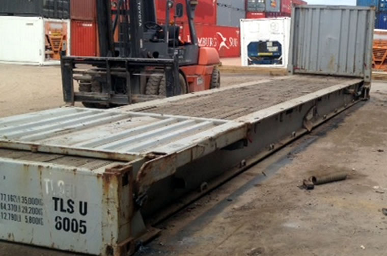 Used 40ft Flat Rack Container Hire